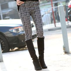 SO Central - Elasticized-Waist Tweed Pants