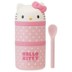 Skater - Hello Kitty Lunch Box with Spoon for Kids
