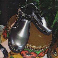 时尚麦乐 - 厚底玛丽珍平跟鞋