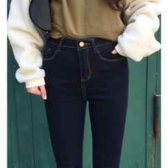Tiny Times - High-Waist Cropped Jeans