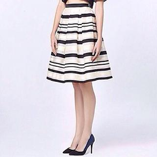 YiGelila - Striped A-Line Skirt