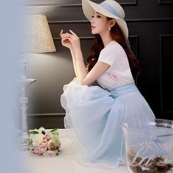 粉红大布娃娃 - 网纱裙裤