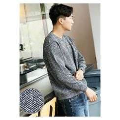HOTBOOM - Crew-Neck Knit Sweater