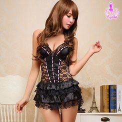 Ayoka - Halter Open-Back Lace Teddy