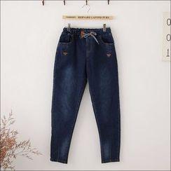 Maymaylu Dreams - 牛仔裤。绑带工作风帅气款