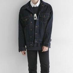 Seoul Homme - Boxy-Fit Washed Denim Jacket