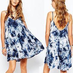Chika - 印花V領吊帶裙