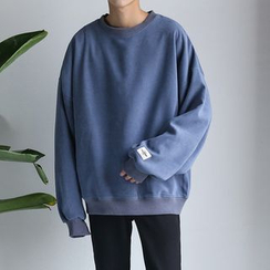 JUN.LEE - Drop-shoulder Sweatshirt