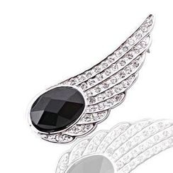 Trend Cool - Rhinestone Wing Brooch
