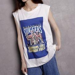 Sonne - Sleeveless Printed T-Shirt