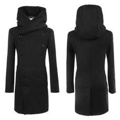Bay Go Mall - Double Breast Hooded Coat