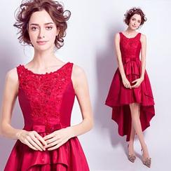 Angel Bridal - 無袖長尾短禮服裙