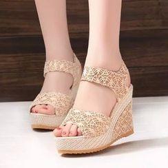 Bayrose - Platform Wedge Sandals