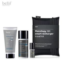 Belif - Manology 101 Smart Recharger Travel Kit: Facial Cleansing Foam 100ml + Smart Recharger 100ml + Daily Defense SPF15 PA++ 10ml + Pouch 1pc