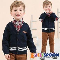 JELISPOON - Boys Set: Inset Shirt Cardigan Top + Pants