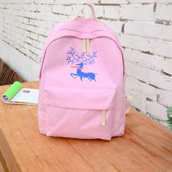 Jackpot Queen - Deer Canvas Backpack