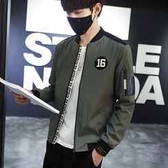 Besto - Lettering Bomber Jacket