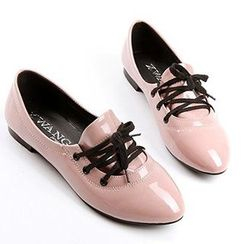 CITTA - Lace-Up Patent Shoes