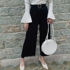 Cloud Nine - Velvet Wide-leg Pants