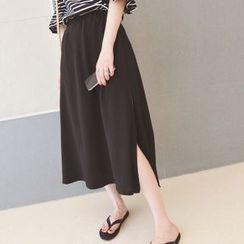 Moon City - Side Slit Midi Skirt