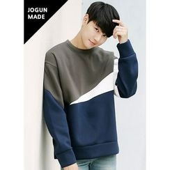 JOGUNSHOP - Color-Block Neoprene Pullover