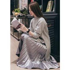 Chlo.D.Manon - Dip-Back Wool Blend Long Knit Top