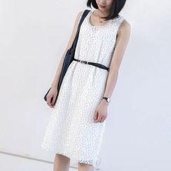 蘭芝 - 無袖繡花連衣裙