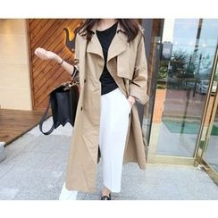 MARSHMALLOW - Double-Breasted Trench Coat