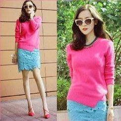 Amella - Set: Sweater + Lace Skirt