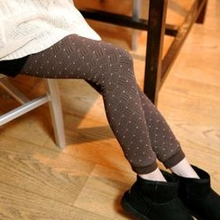 Tokyo Fashion - Fleece-Lined Dotted Leggings