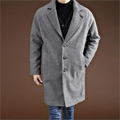 THE COVER - Raglan-Sleeve Wool Blend Coat