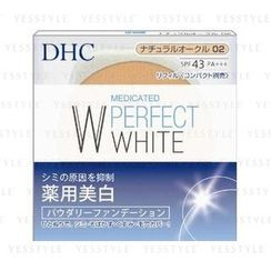 DHC - Medicated Perfect White Powdery Foundation SPF 43 PA+++ (#02 Ocher) (Refill)