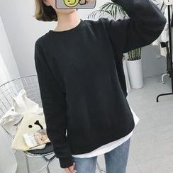 Eva Fashion - Mock Two Piece Sweatshirt