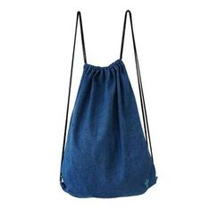 Bundle of Joy - Denim Drawstring Backpack