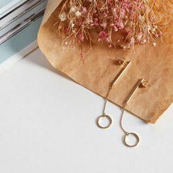 NIPONJJUYA - Hoop Dangle Earrings