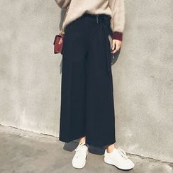 LRZ - Cropped Wide Leg Pants