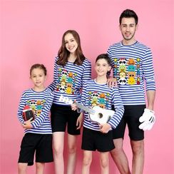 Panna Cotta - Cartoon Print Long Sleeve Family Matching T-Shirt