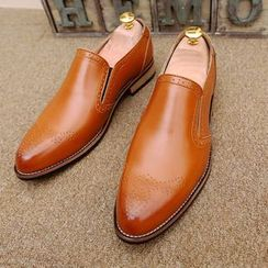Preppy Boys - Genuine Leather Perforated Loafers