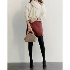 UPTOWNHOLIC - Slit-Side Pencil Skirt