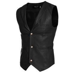 Fireon - Faux Leather Vest