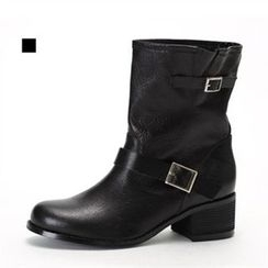 MODELSIS - Buckled-Detail Ankle Boots