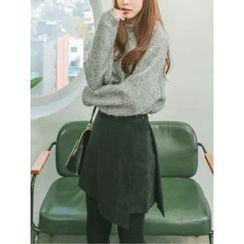 LOLOten - Inset Inner Shorts Wrap-Front Skirt