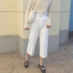 Eva Fashion - Plain Cropped Pants