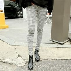 clicknme - Houndstooth Skinny Pants