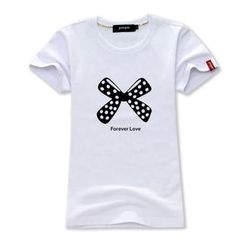 Porspor - Bow Print T-Shirt