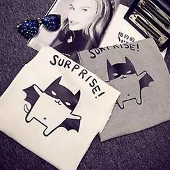 Shimi - 卡通印花短袖T恤
