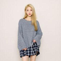 Envy Look - Drop-Shoulder Cable-Knit Sweater