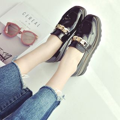 QQ Trend - Chain Detail Platform Loafers
