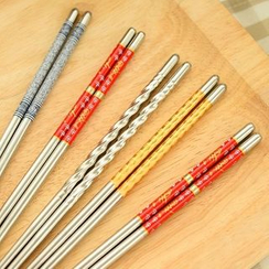 Showroom - Set of 5: Stainless Steel Chopsticks