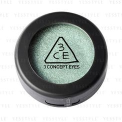 3 CONCEPT EYES - One Color Shadow - Sparkling (Neptune Mint)